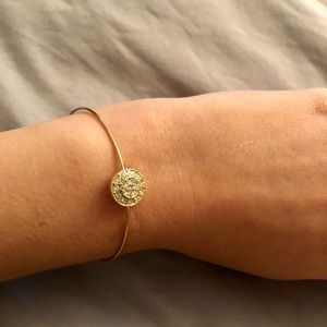 Jewelry - Delicate Gold Crystal Bangle
